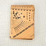Porte cartes héron noir