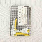 Porte cartes Nantes pied de poule