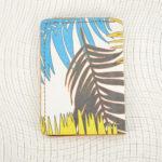 Porte cartes palmier bleu