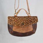 Marie Chantale choco poche léopard marron
